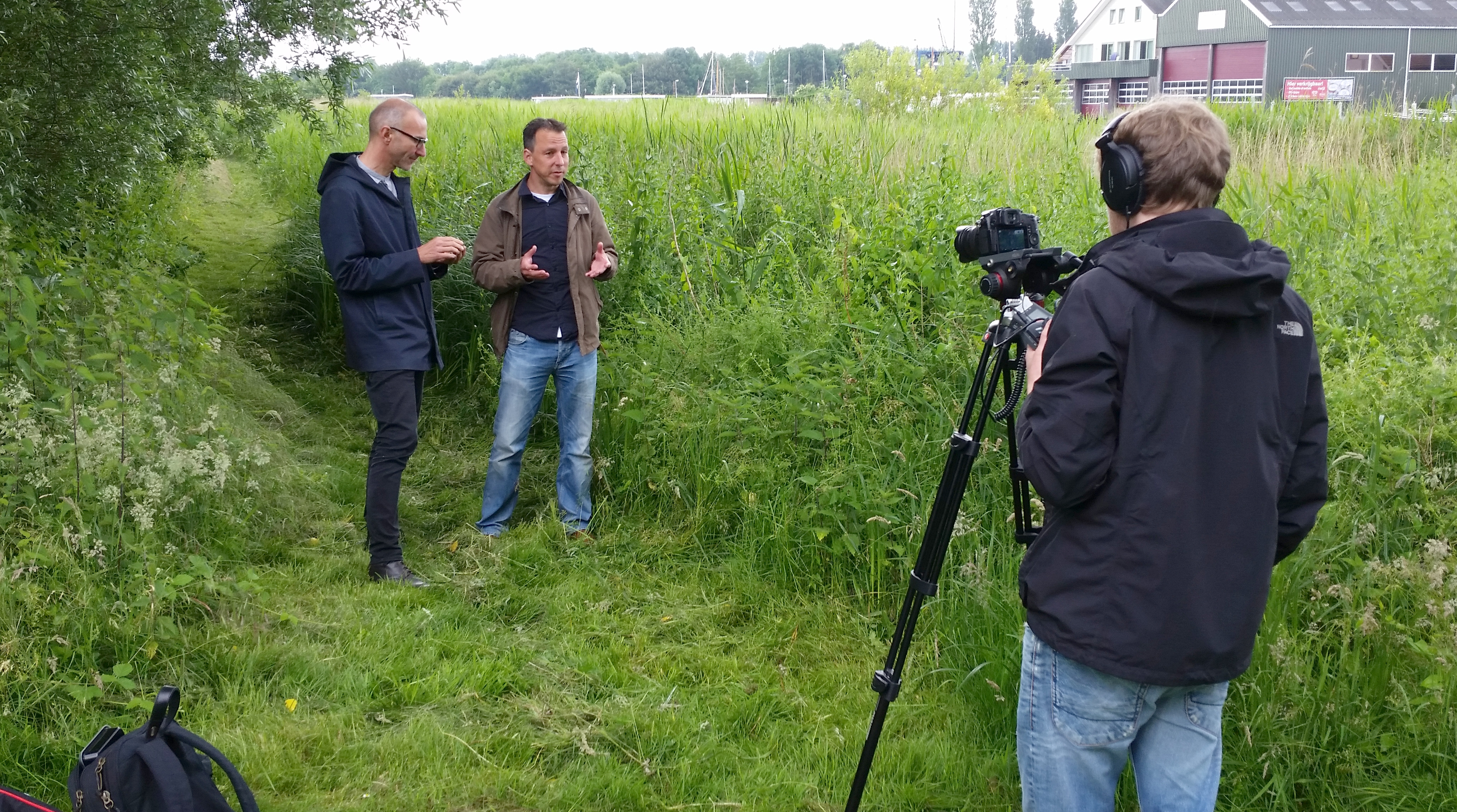 We shot part of our MOOC Evolution Today in the field - where biologists feel most at home!