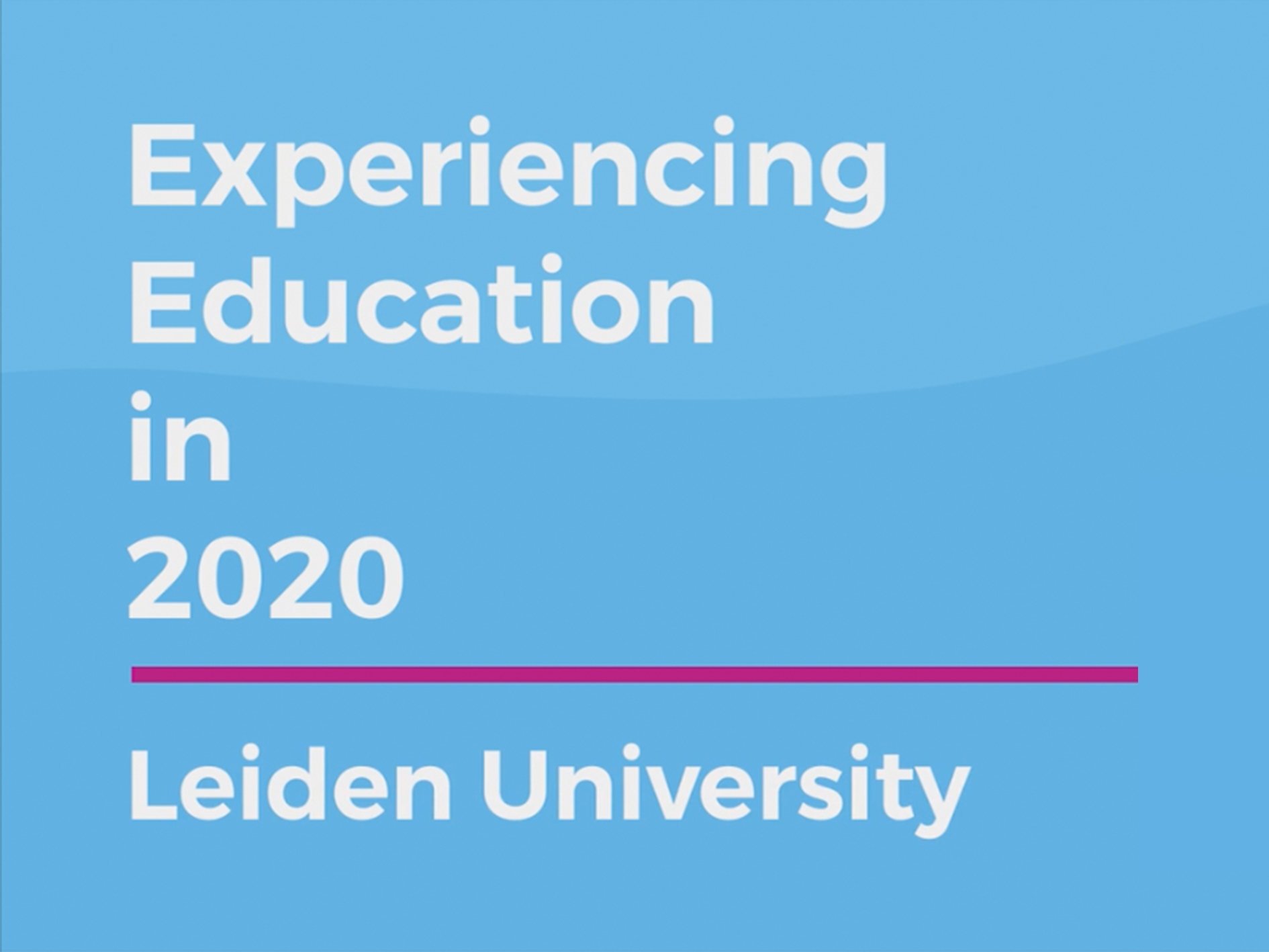 New Documentary: Experiencing Education in 2020